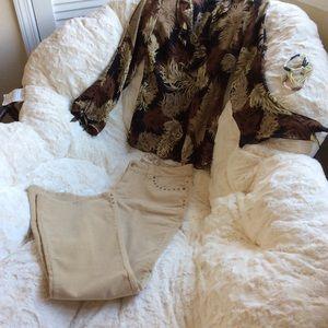 Ensemble, ❤️ NWOT Pants, Blouse & Jewelry outfit.
